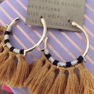 Anthropologie earrings loop tassel earrings NWOT